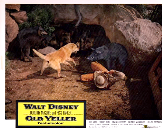 Old Yeller Lobby Card - Yeller and Travis