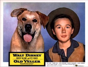 Old Yeller Lobby Card - Yeller and Travis
