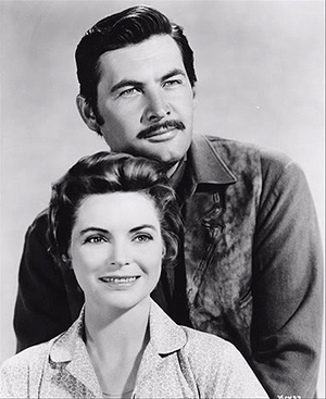 Old Yeller Portrait - Fess Parker and Dorothy McGuire