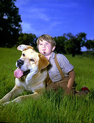 Old Yeller Portrait - Kevin Corcoran and Spike