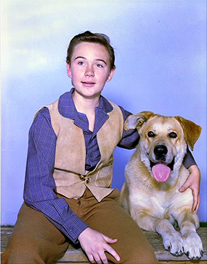 Old Yeller Portrait - Tommy Kirk and Spike