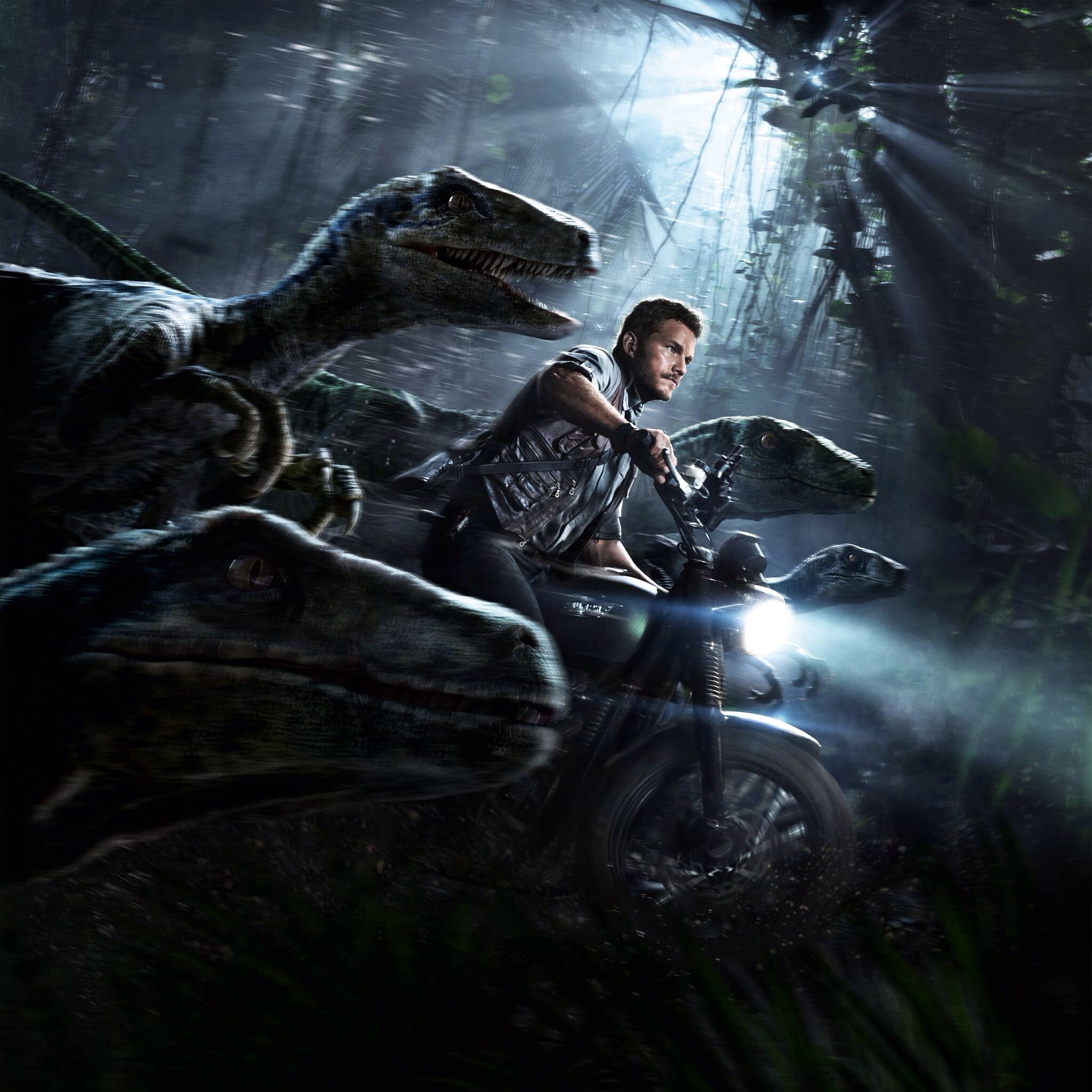 Owen Grady and his Velociraptors