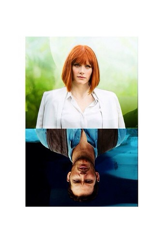 Jurassic World پیپر وال containing a portrait titled Owen and Claire
