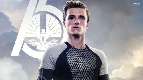 jogos vorazes wallpaper possibly with tights, a leotard, and a legging entitled Peeta Mellark