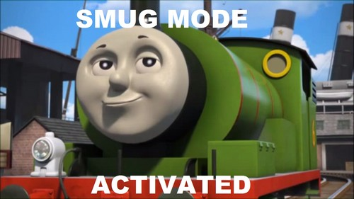 Thomas the Tank Engine kertas dinding titled Percy Meme