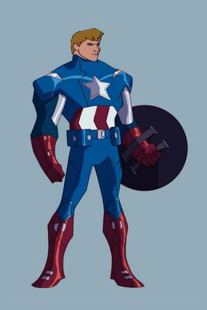 Phillip as Captain America