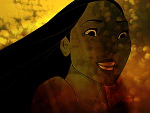 Pocahontas karatasi la kupamba ukuta