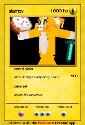 Stampylongnose Hintergrund called Pokemon card stampy
