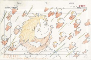 Ponyo on the Cliff 由 the Sea Concept Art