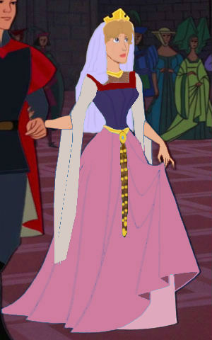Zeichentrick-Heldinnen der Kindheit Hintergrund probably containing a kirtle, a polonaise, and an overskirt, überrock titled Princess Eilonwy Grown Up