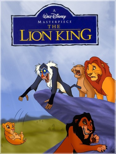 The Lion King پیپر وال containing عملی حکمت entitled Rafiki drops Simba