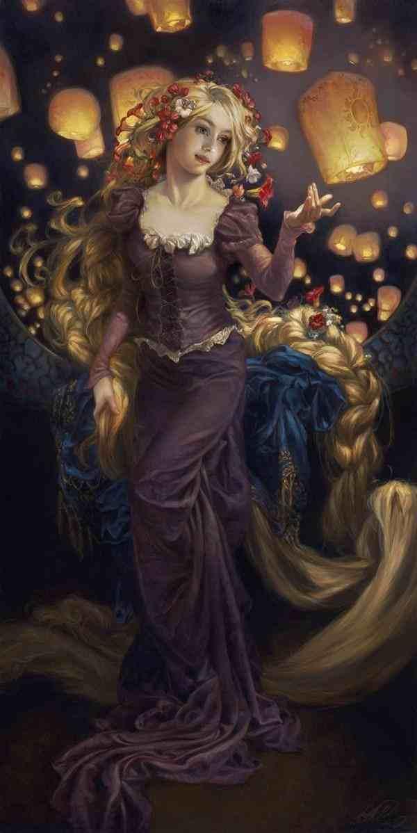 Rapunzel Oil Painting