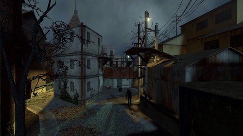 Half Life hình nền possibly with a street, a brownstone, and a row house entitled Ravenholm