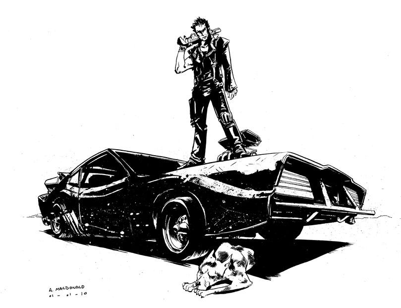 Как нарисовать безумного макса машину