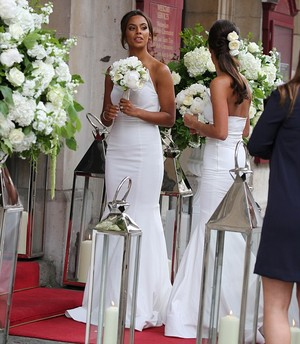 Rochelle at Georgina Dorsett's wedding.