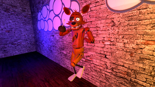 Five Nights at Freddy's پیپر وال probably containing a سٹریٹ, گلی entitled SFM Foxy Relaxing