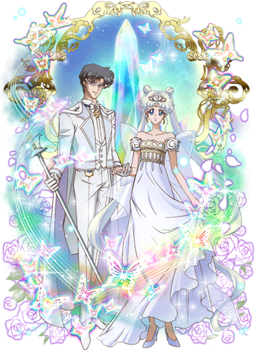 Sailor Moon karatasi la kupamba ukuta titled SMC ~ Neo Queen Serenity and King Endymion