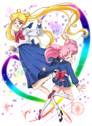 sailor moon wallpaper entitled SMC ~ Usagi and Chibiusa