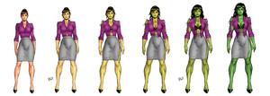 She-Hulk Transfomation