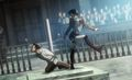 Shingeki no Kyojin/Attack on Titan_scene_Levi beats up Eren - anime photo