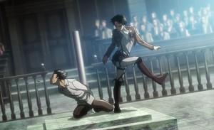 Shingeki no Kyojin/Attack on Titan_scene_Levi beats up Eren