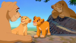 Simba, Nala and their mothers
