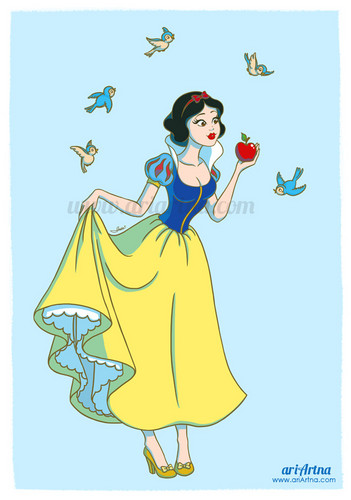 Snow White and the Seven Dwarfs wallpaper possibly containing anime entitled Snow White, Disney princesses collection
