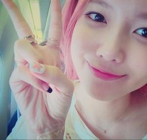 Sooyoung 粉, 粉色 Hair