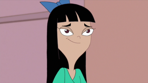 stacy from phineas & ferb দেওয়ালপত্র called Stacy Smiling