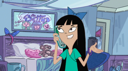 stacy from phineas & ferb wallpaper containing animê called Stacy in Her Room