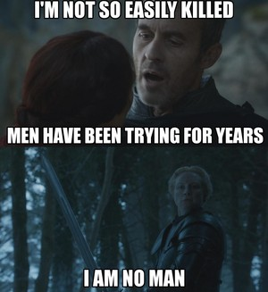 Stannis Baratheon and Brienne of Tarth