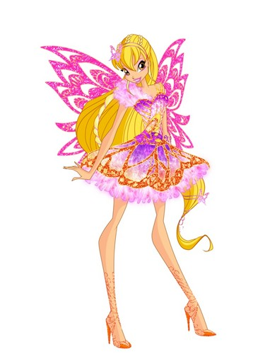 Winx Club karatasi la kupamba ukuta probably with a bouquet called Stella Butterflix