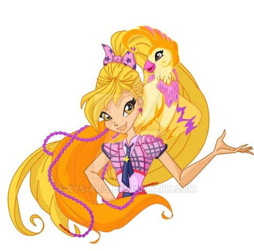 the winx club wallpaper titled Stella and Fairy Pet