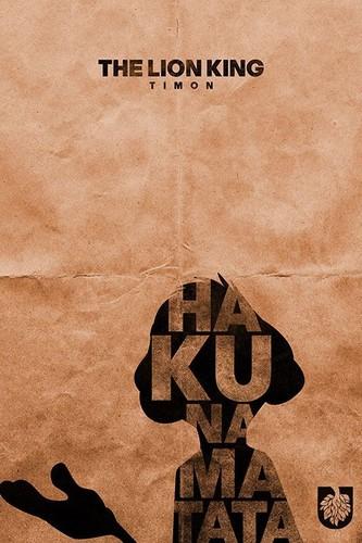 The Lion King kertas dinding titled TLK Minimalist Poster