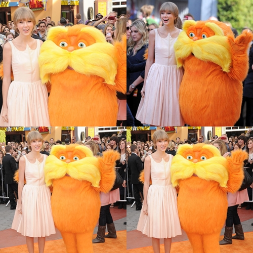 Tay at the movie premiere of The Lorax