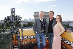 Терминатор Genisys Paris Photocall
