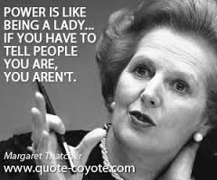 Thatcher on Power