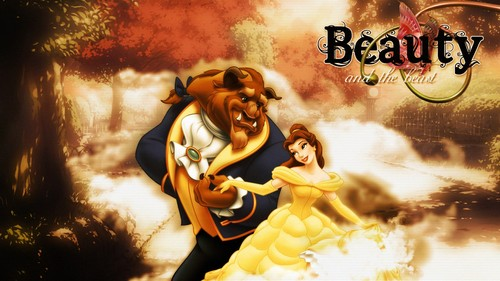 Beauty and the Beast wallpaper containing anime entitled The Beauty and The Beast