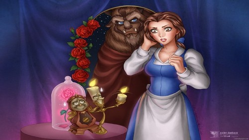 Beauty and the Beast wallpaper called The Beauty and The Beast