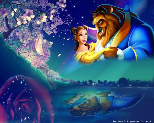 Die Schöne und das Biest Hintergrund titled The Beauty and The Beast