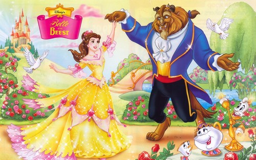 Beauty and the Beast wallpaper possibly with anime titled The Beauty and The Beast