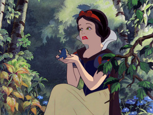 The Evil Queen as Snow White