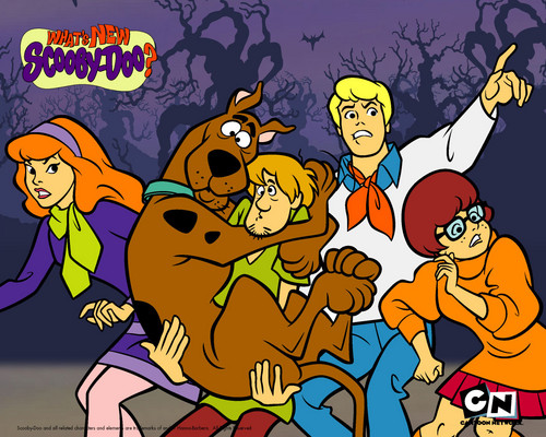 Scooby-Doo 壁紙 containing アニメ titled The Gang