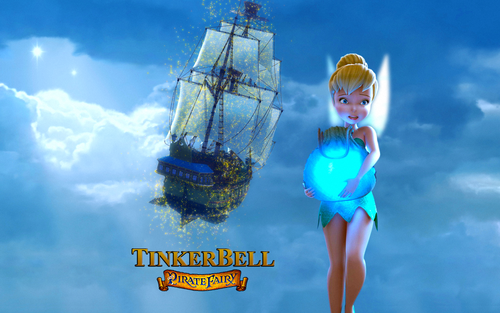 Tinkerbell پیپر وال entitled The-Pirate-Fairy-
