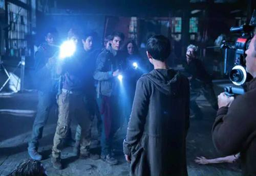 The Maze Runner kertas dinding entitled The Scorch Trials - Behind Scenes