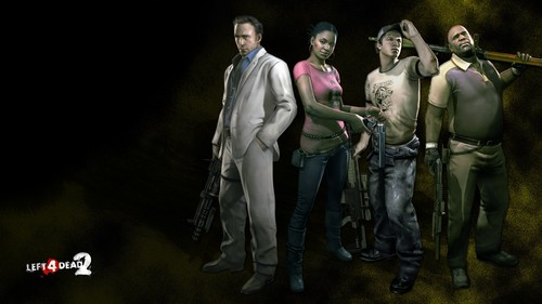 left 4 dead 2 wallpaper probably with a lippizan and a horse trail called The Survivors