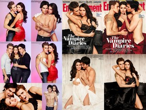 The Vampire Diaries Entertainment Weekly mag. shoot collage