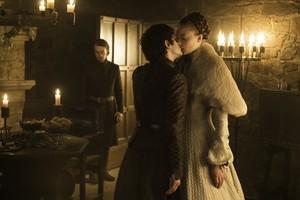 Theon Greyjoy, Ramsay Snow and Sansa Stark in 'Unbowed, Unbent, Unbroken'
