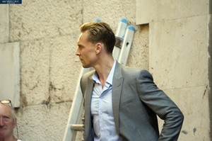 Tom filming The Night Manager