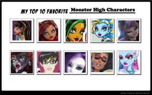 শীর্ষ 10 পছন্দ Monster High Characters